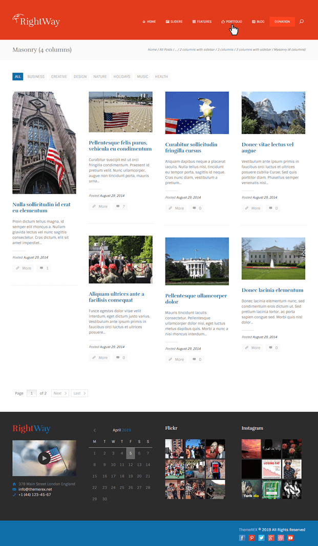 Port - Politics WordPress Theme