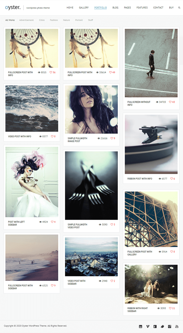 Portfolio - Photo WordPress Theme