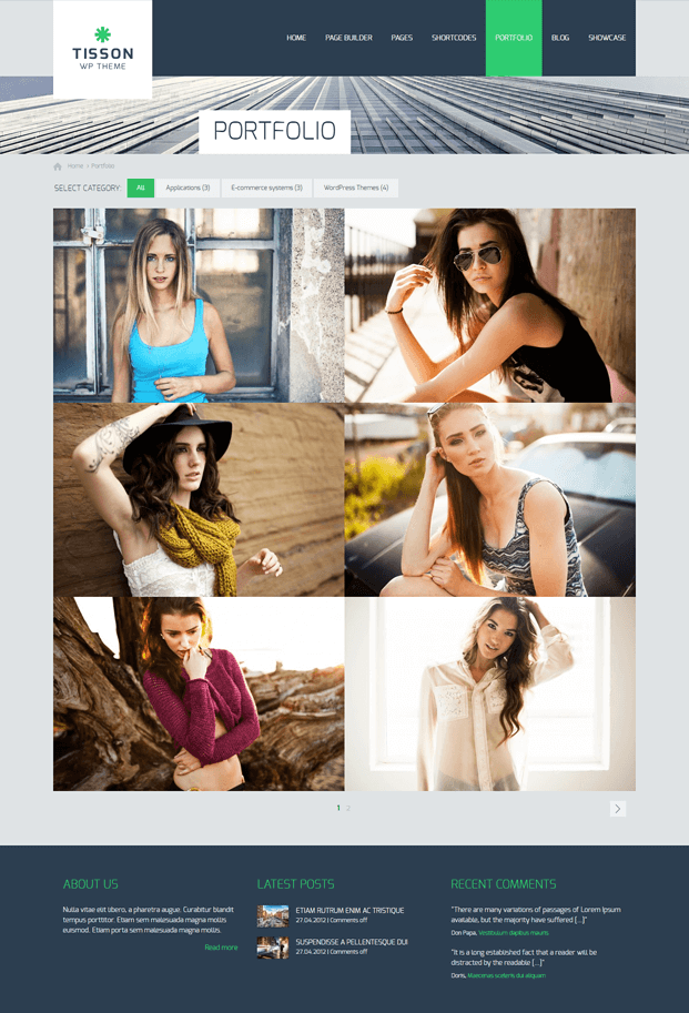 Portfolio - Responsive WordPress Business Theme