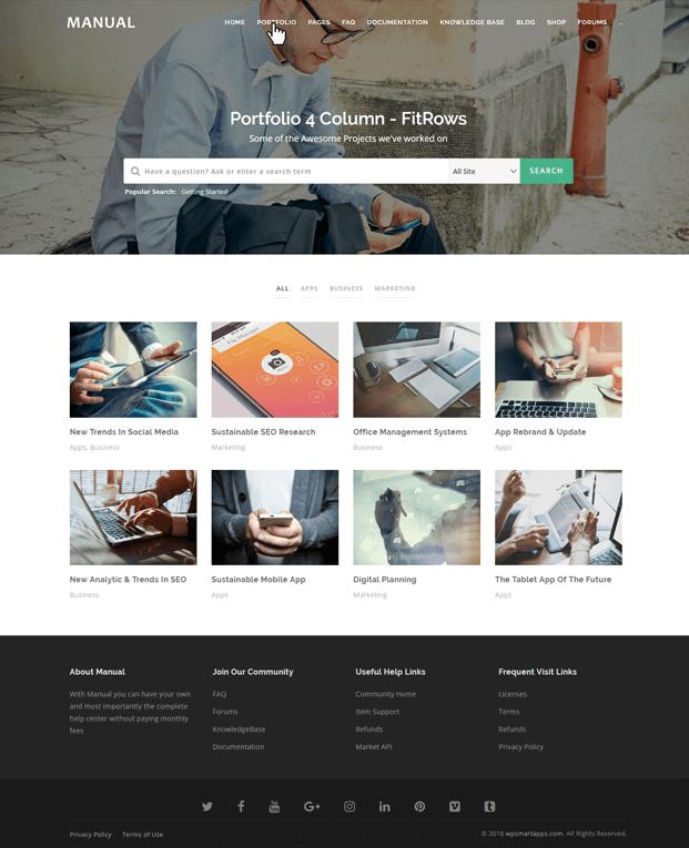 Portfolio - Documentation WordPress Theme