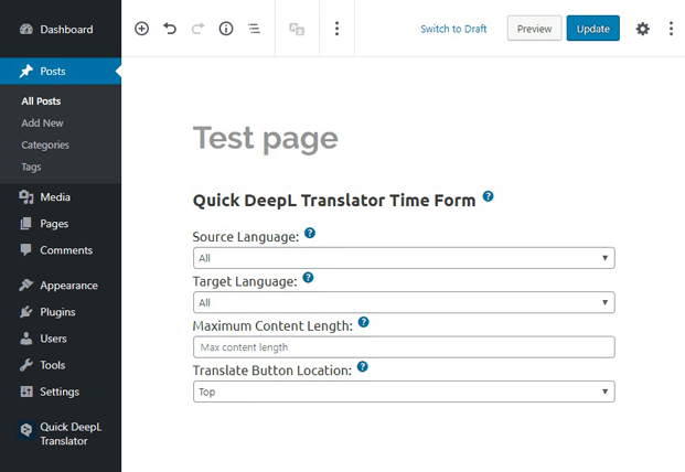Posts - Translator WP Plugin