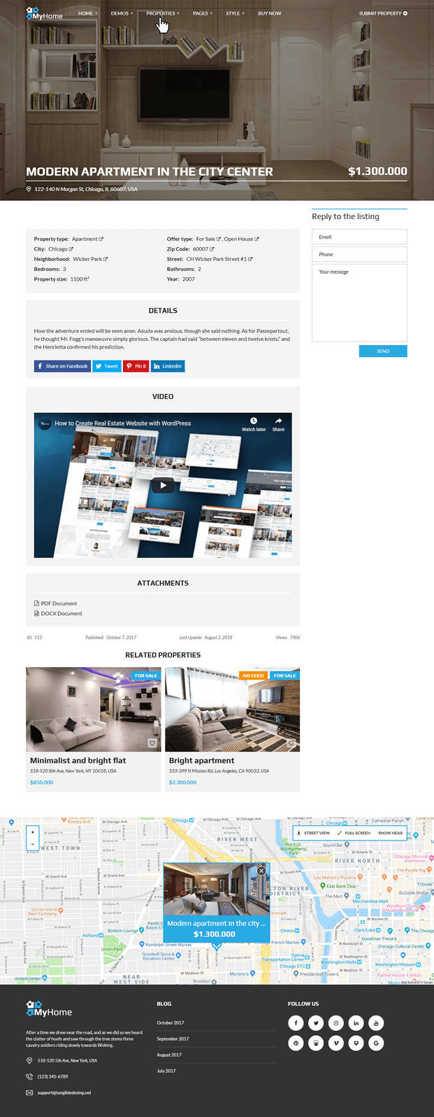 Properties - Real Estate Agency WordPress Theme