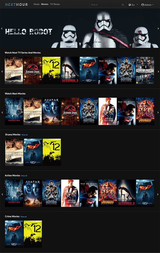 Movies  -  Video Subscription Software