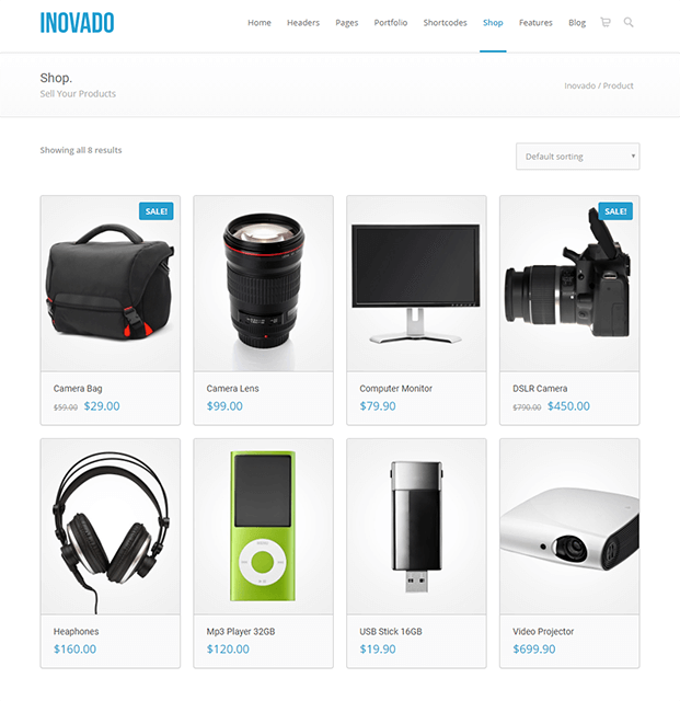 Shop - Customisable WordPress Theme