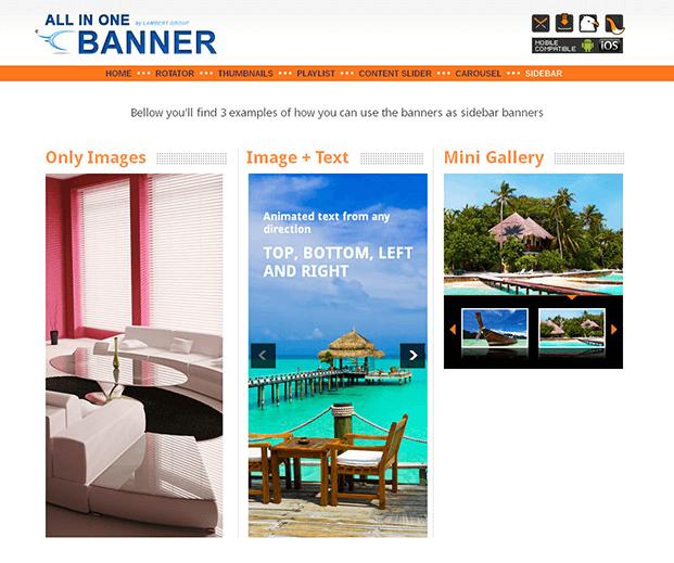Sidebar Banners - WordPress Responsive Slider Plugin