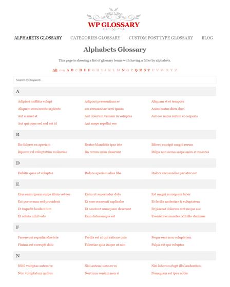 WordPress Dictionary Plugin