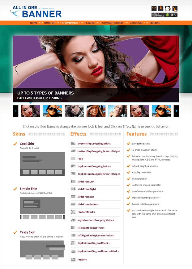 Thumbnails Banner - WordPress Responsive Slider Plugin
