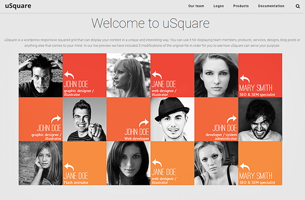 uSquare- Grid WordPress Plugin