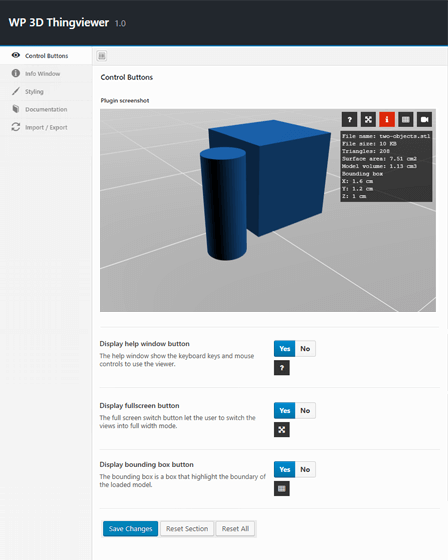 WordPress 3D Product Viewer