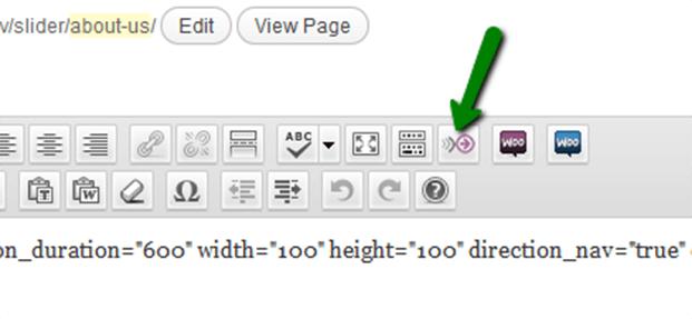 Visual Editor Button - Product Slider WordPress Plugin