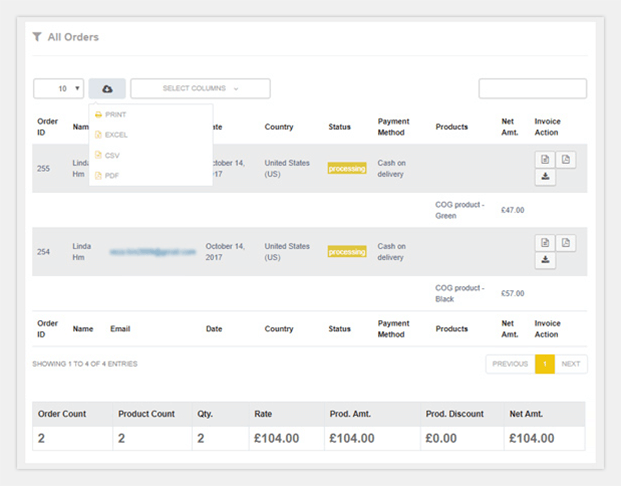 Product Details - WooCommerce Reporting Plugin