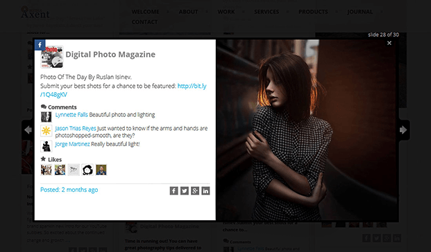 Slideshow - Social Stream Plugin WordPress