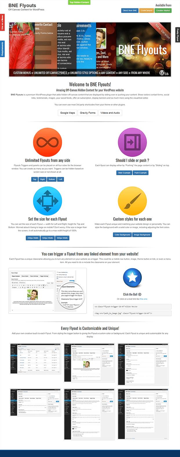 Home Page - WordPress Off-Canvas Plugin