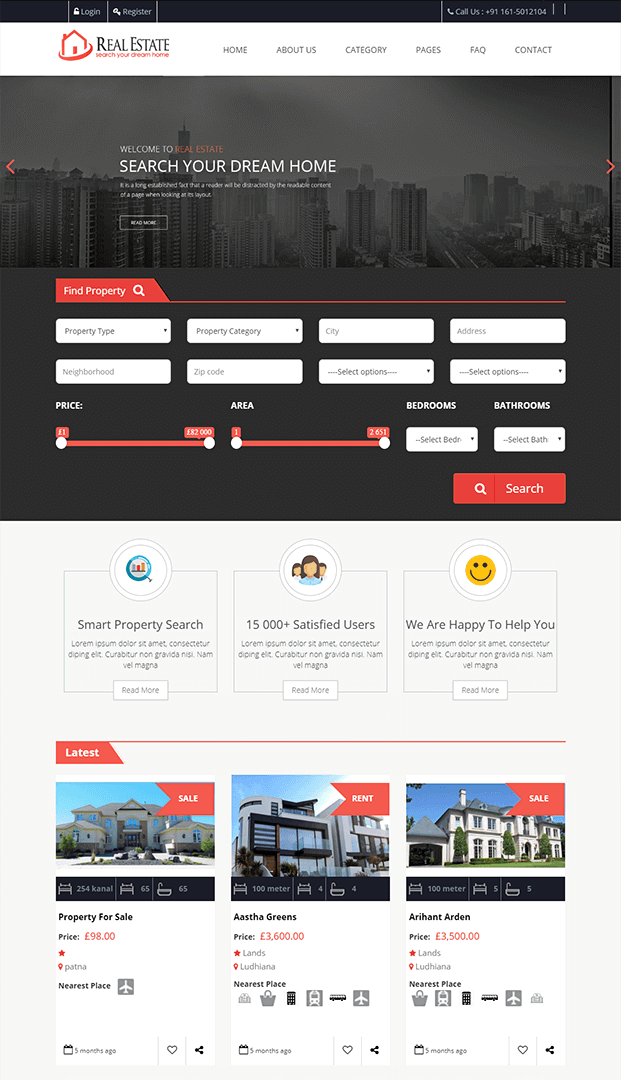 Home - Real Estate Website PHP Script