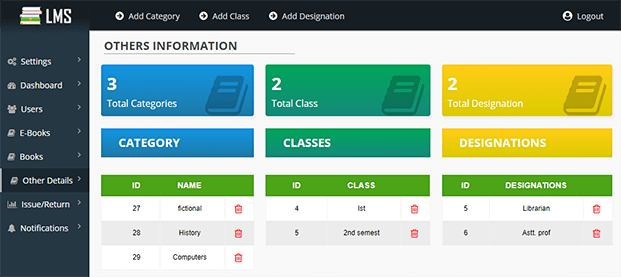 Easy Lms Library Management System Php Script Inkthemes