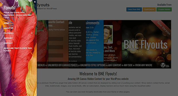 Left Sidebar - WordPress Off-Canvas Plugin