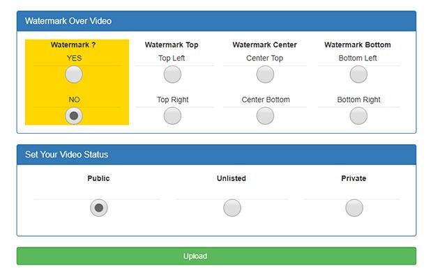 Watermark - YouTube Video Uploader Software