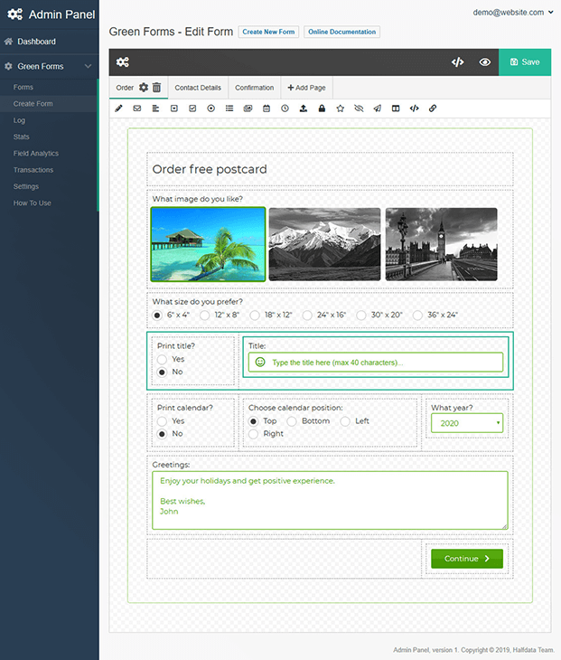 Create Forms - Form Builder Script PHP