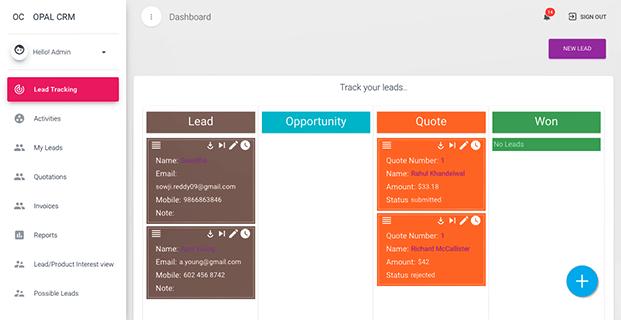 Dashboard - Lead Management Software