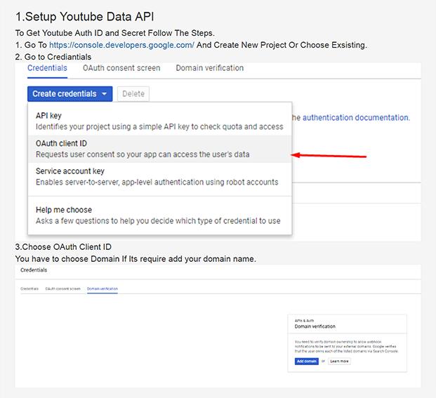 Setup API - YouTube Video Uploader Software