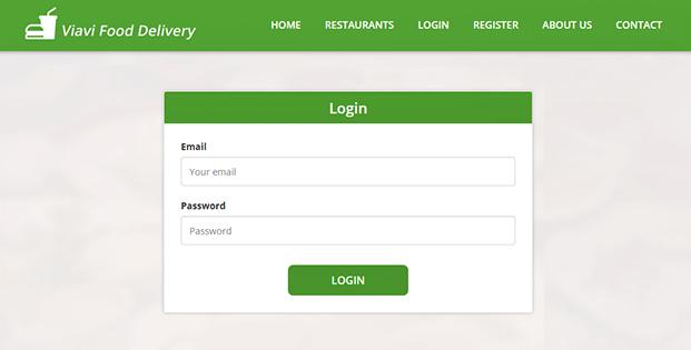 Login - PHP Food Delivery Script