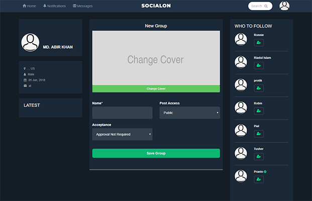 Edit Profile - Social Networking Script