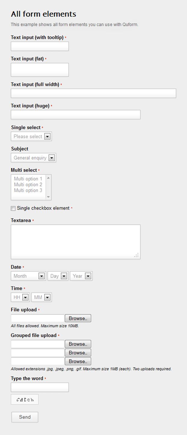 All Elements - Ajax Contact Form Script