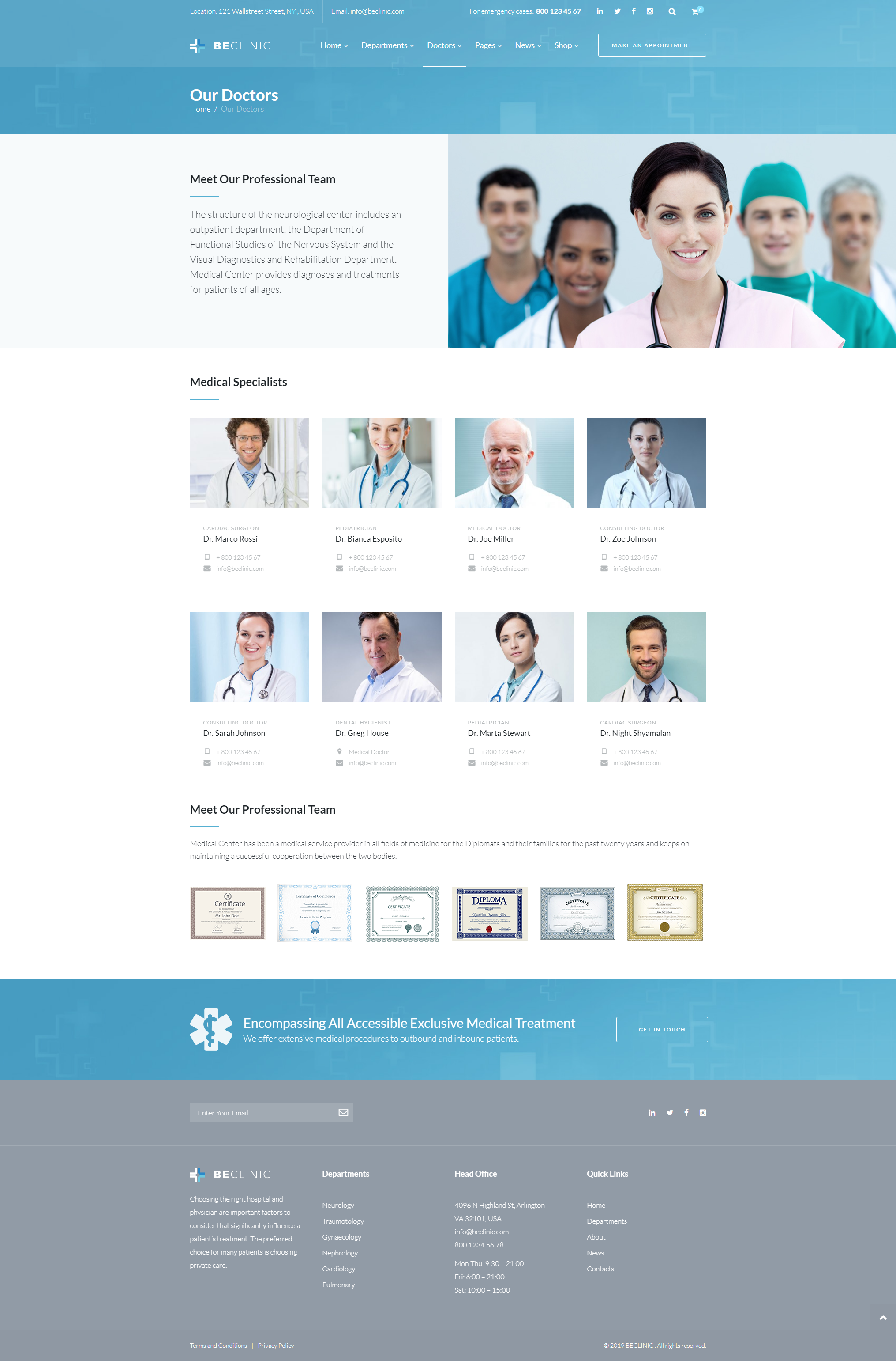 Doctors - WordPress Theme For Medical