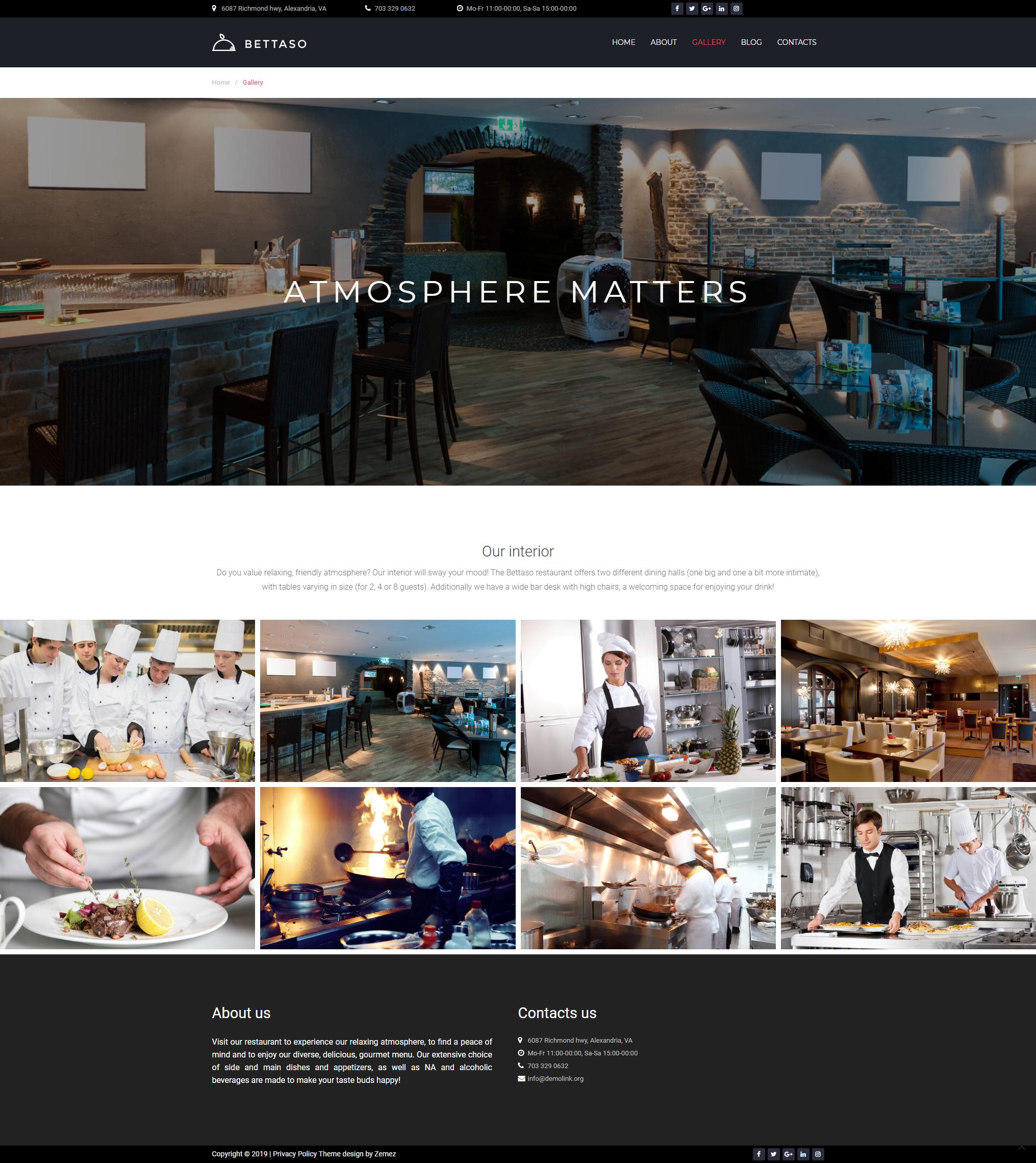 Gallery - Best Restaurant Theme WordPress