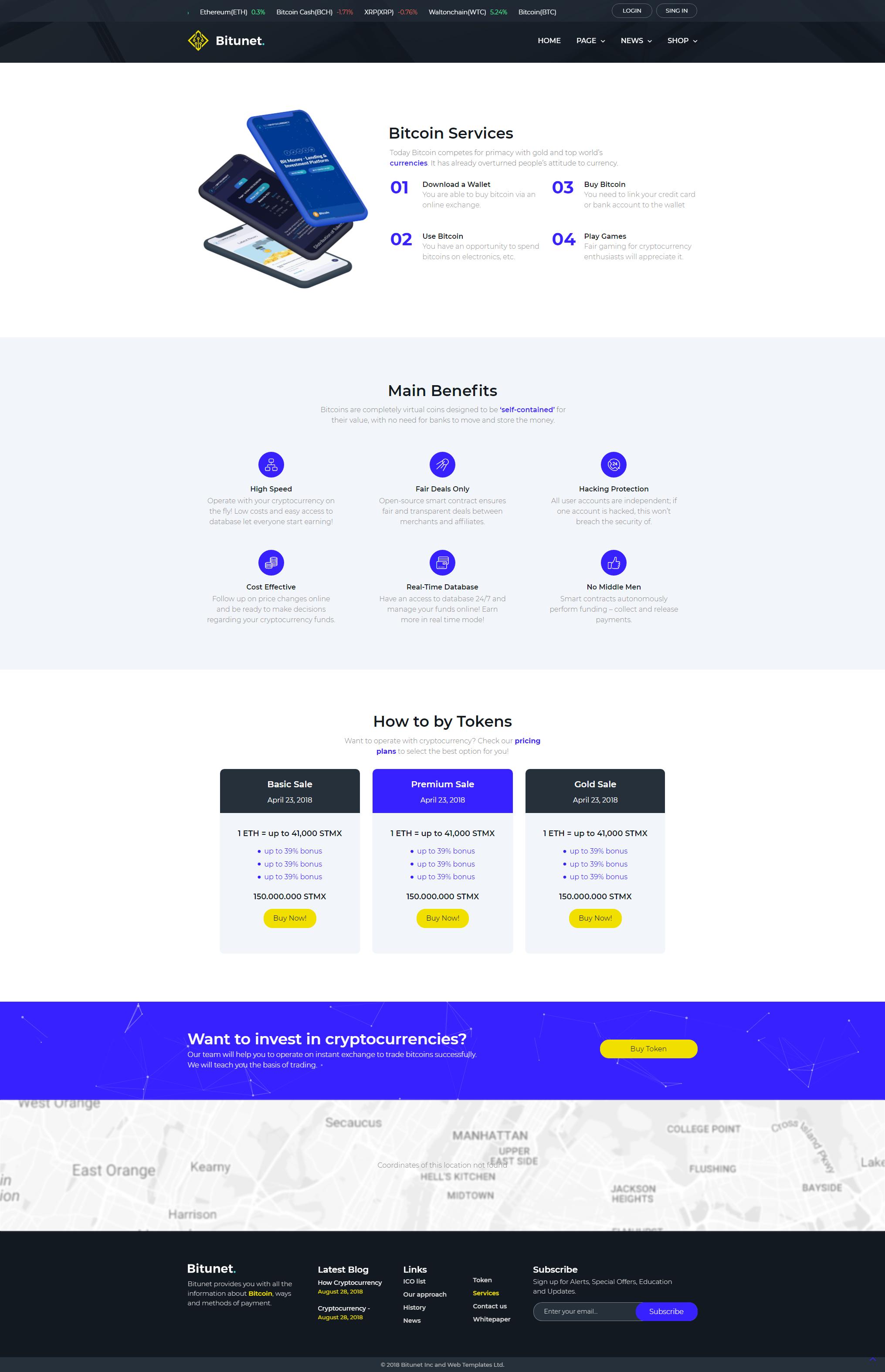 Services - WordPress Cryptocurrency Elementor Theme