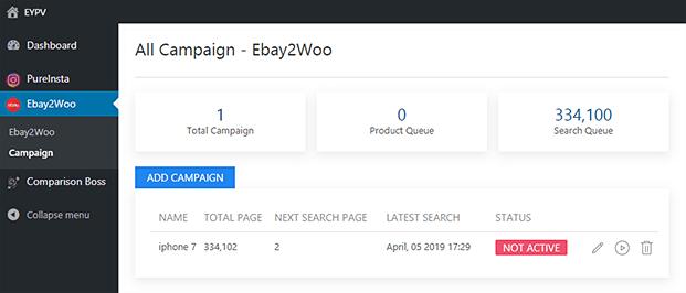Campaign-ebay Importer Woocommerce Plugin