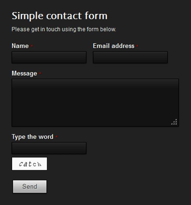 Dark Theme - Ajax Contact Form Script