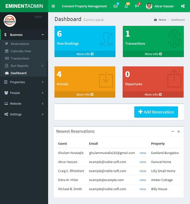 Dashboard - Property Listing Script