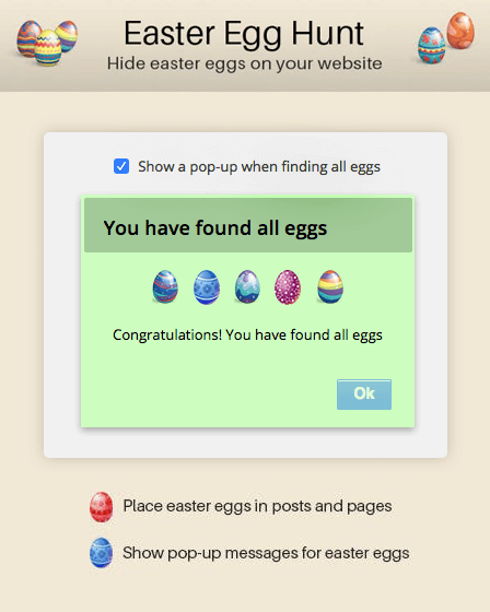 WordPress Easter Egg Plugin