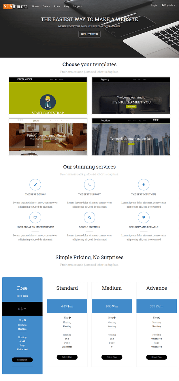 Home - Website Builder PHP Script