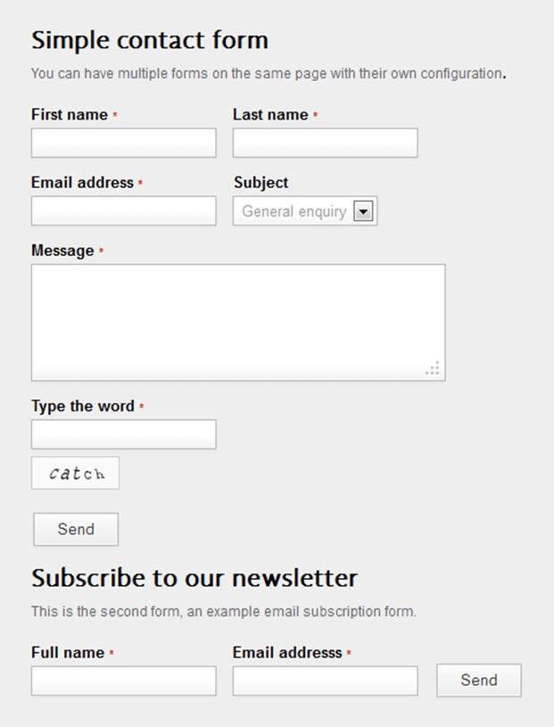 Multi Forms - Ajax Contact Form Script