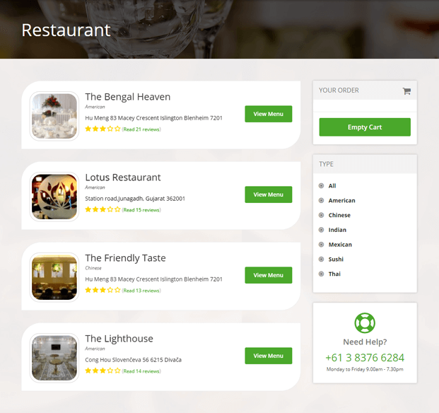 Restaurant - PHP Food Delivery Script