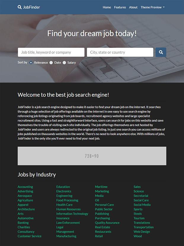 Multiple Theme - Job Portal Script