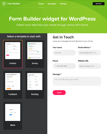 Preview-Form Builder Plugin WordPress