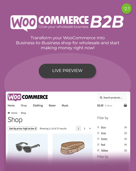 Preview - WooCommerce B2B Plugin