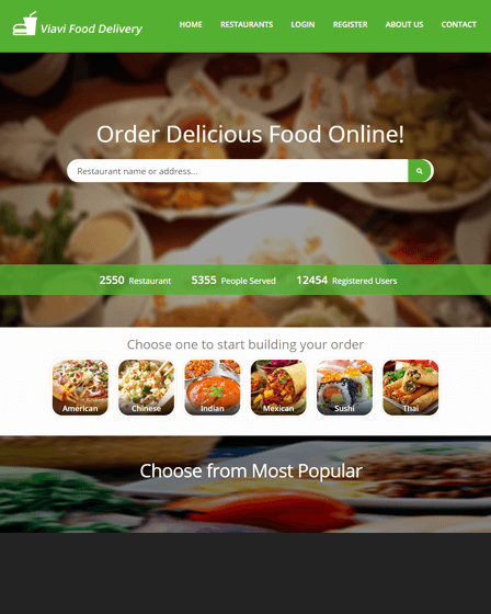 PHP Food Delivery Script