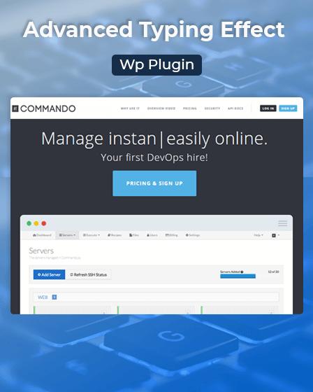 Typing Effect WordPress Plugin