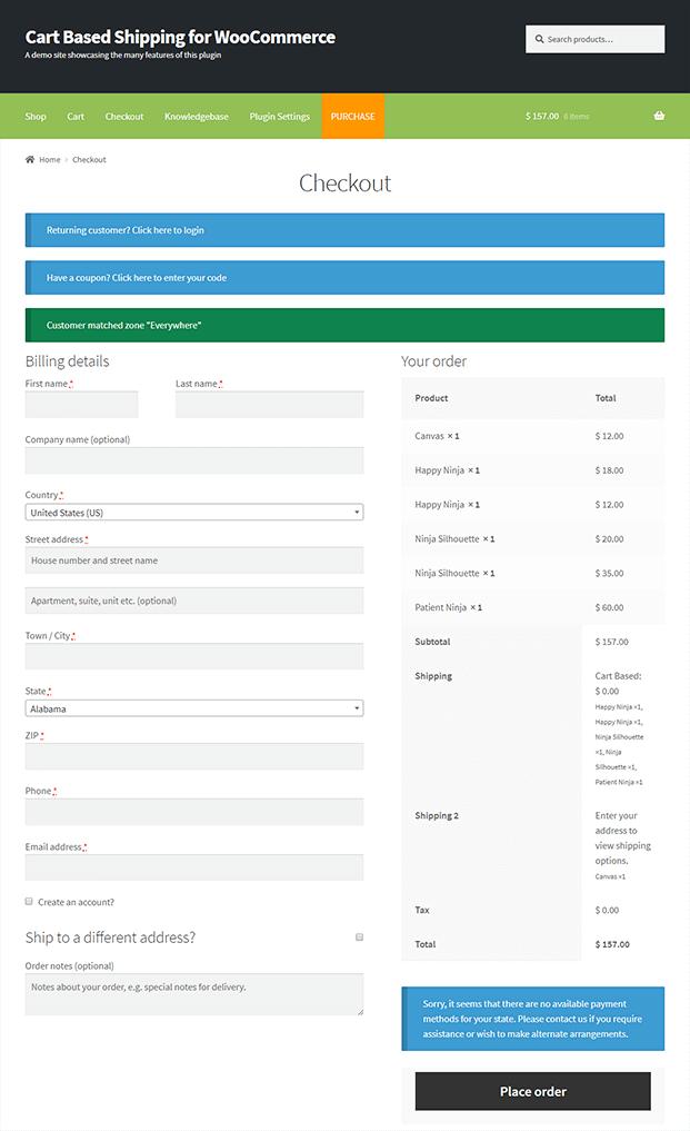 Checkout - WooCommerce Plugin Shop