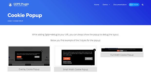Cookie Popup - WordPress GDPR Plugin