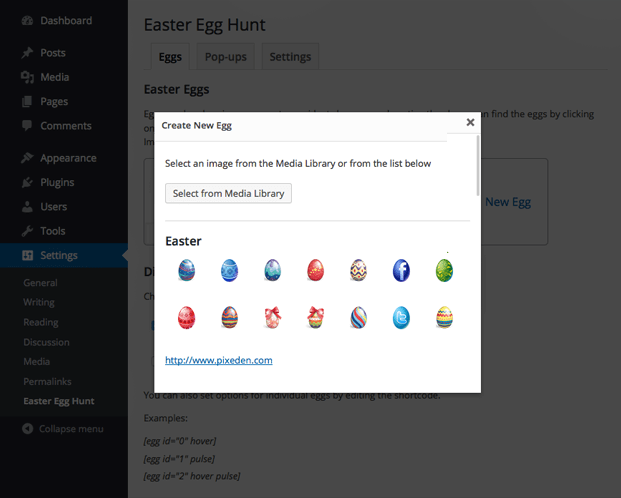 Create - WordPress Easter Egg Plugin