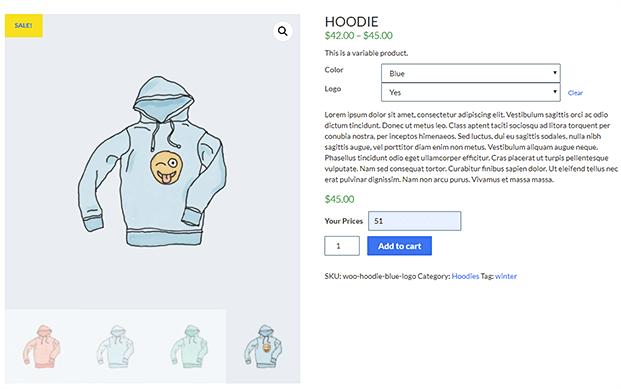 Layout Three-WooCommerce Custom Price Plugin