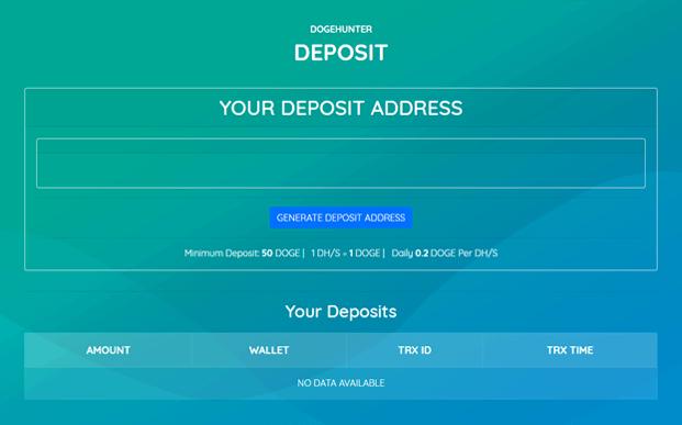Deposit - Dogecoin Mining Script