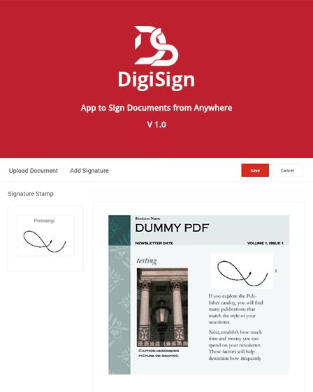 PHP Digital Signature Script