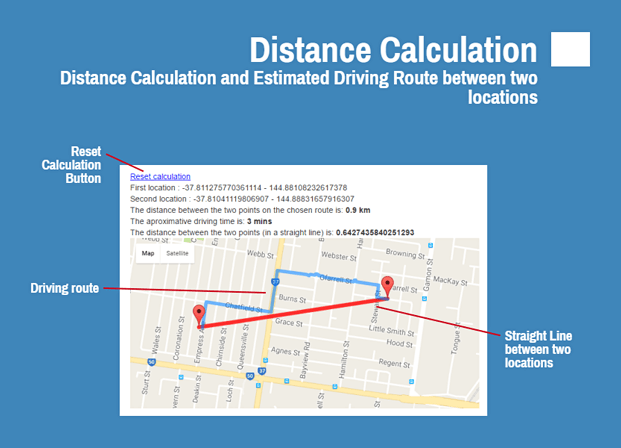 Distant Calculation - Google Map PHP Script