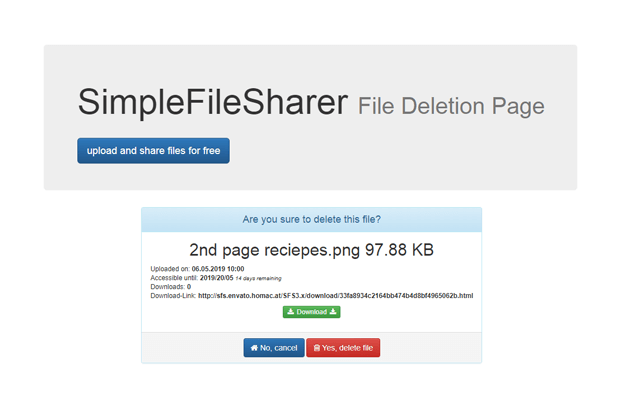Download - File Sharing Script PHP